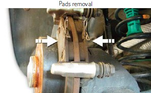 Pads removal